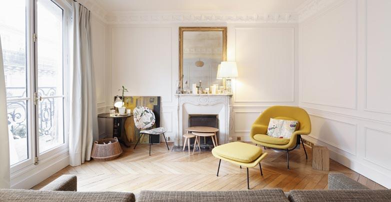 Décoration du séjour dun appartement à bruxelles par un décorateur d intérieur