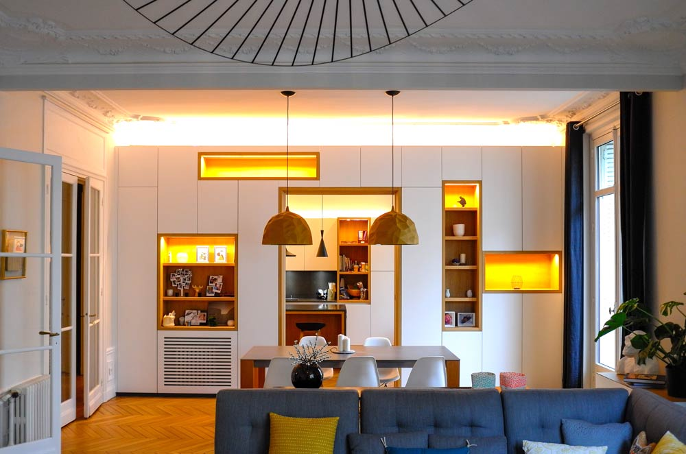 Moderniser un appartement haussmannien v tuste cr ateurs for Architecte interieur bruxelles