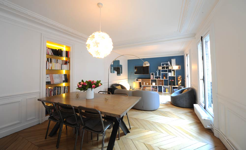 Redistribuer les pièces d'un appartement familial à Paris