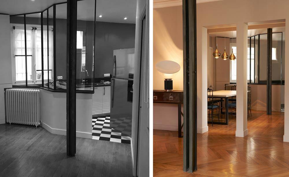 Un architecte d'intérieure rénove et aménage un appartement haussmanien de 160m2 rville