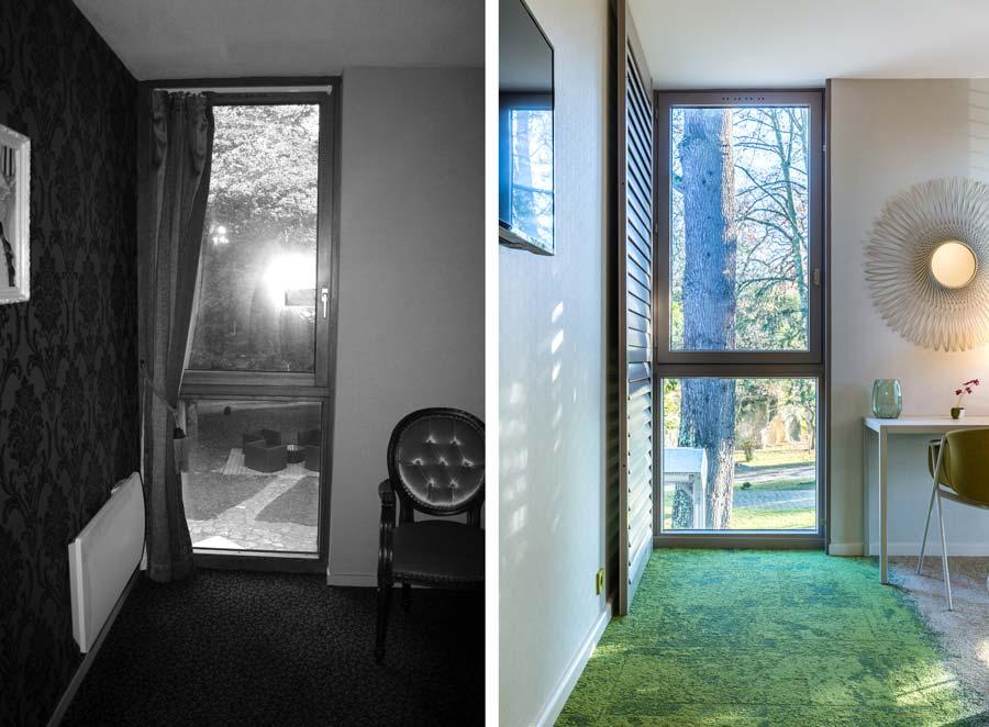 Modernisation d'une chambre d'hotel par un architecte d'intérieur
