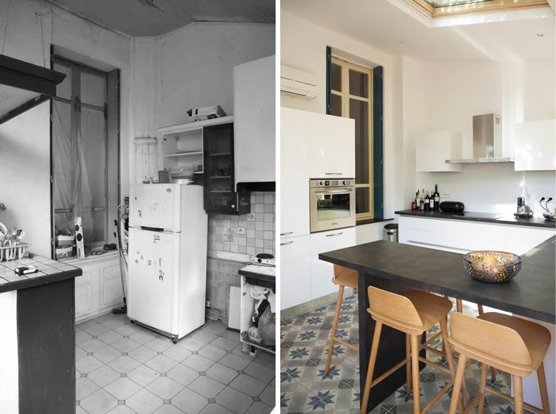 Rénovation d'une cuisine par un architecte DPLG