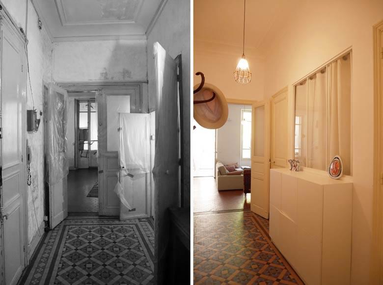 Rénovation de l'entrée d'une maison