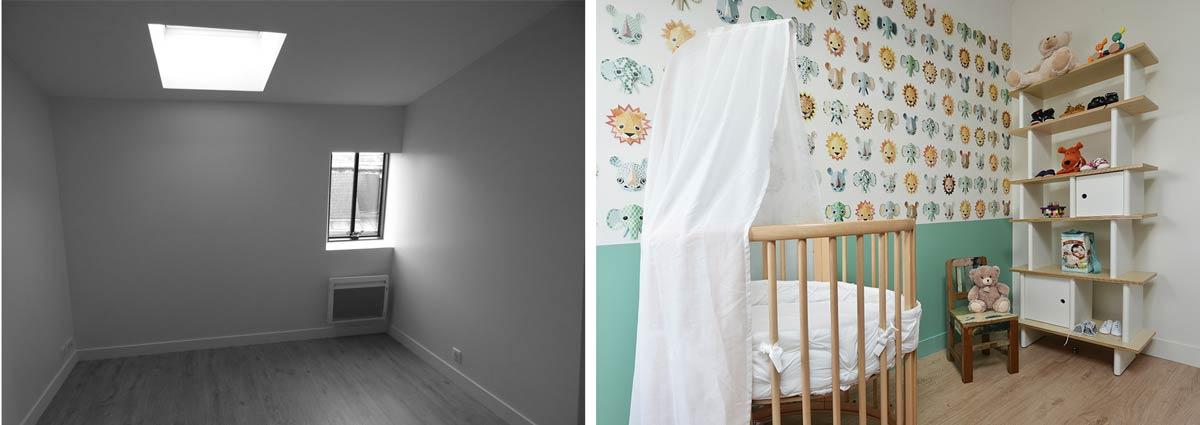 Décoration d'une chambre d'enfant en photos avant - après