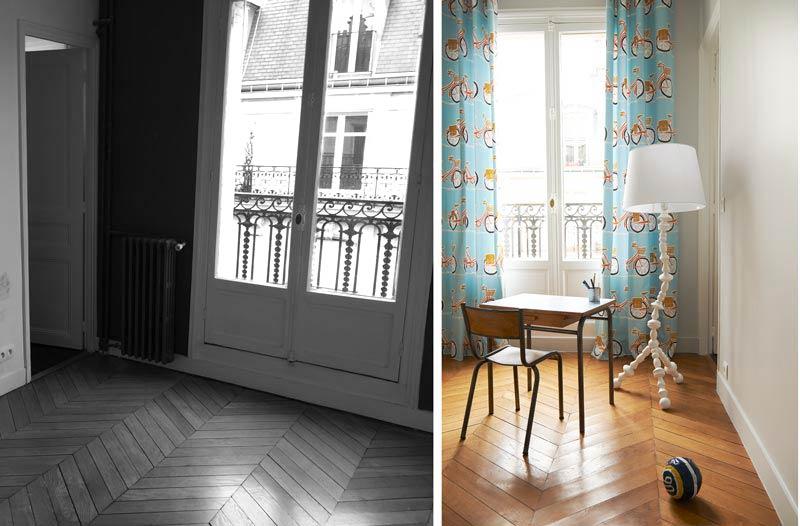 Aménagement d'un coin bureau dans un chambre de l'appartement