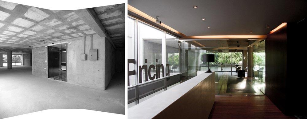 Aménagement de l'intérieur d'un bureau lors d'un project d'architecture commerciale