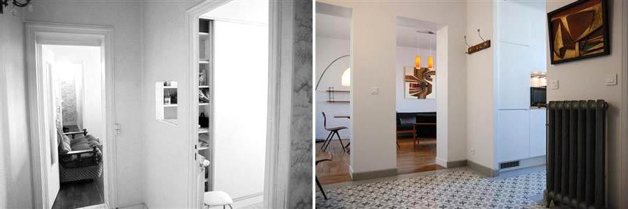 Architecture d'intérieur dans un appartement rdepartement