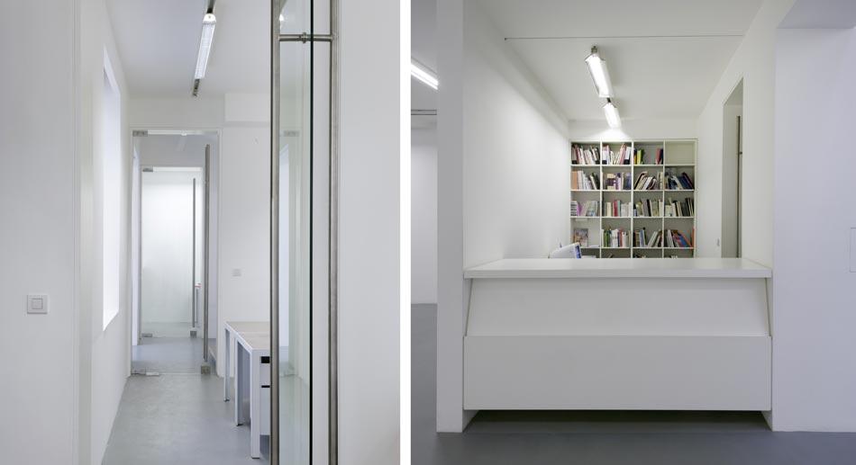 Aménagement de bureaux dans une galerie d'art par un architecte d'intérieur