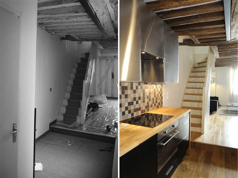 Aménagement d'une cuisine ouverte dans un duplex [custom:departement]
