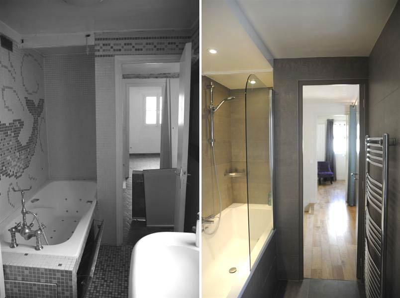 Rénovation d'une salle de bain dans un appartement en duplex