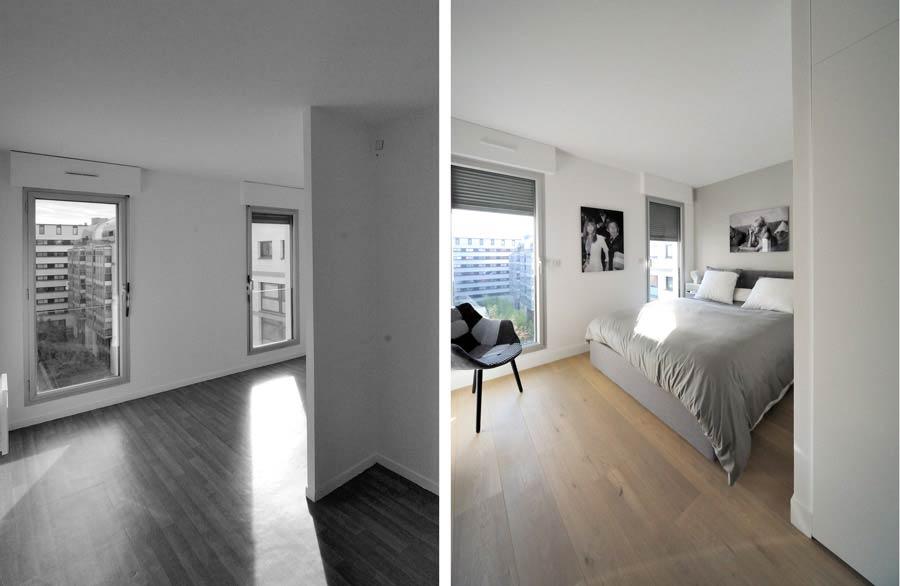 Aménagement d'une chambre par un architecte d'intérieur