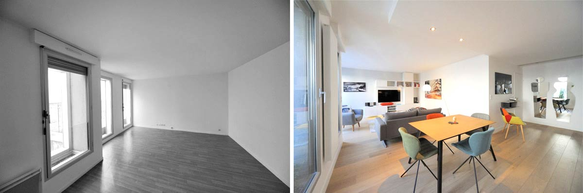 Architecture d'intérieur dans le cadre d'une rénovation d'appartement