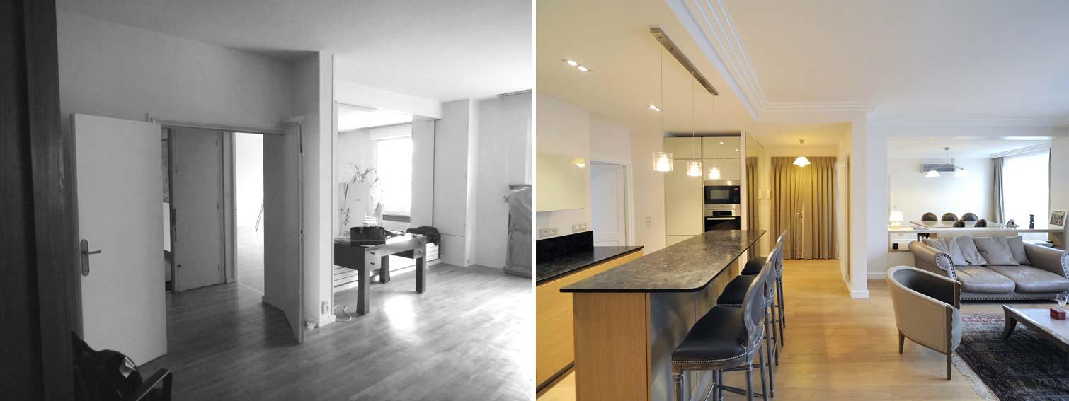 Rénovation d'un bureau rregion en appartement d'habitation rregion