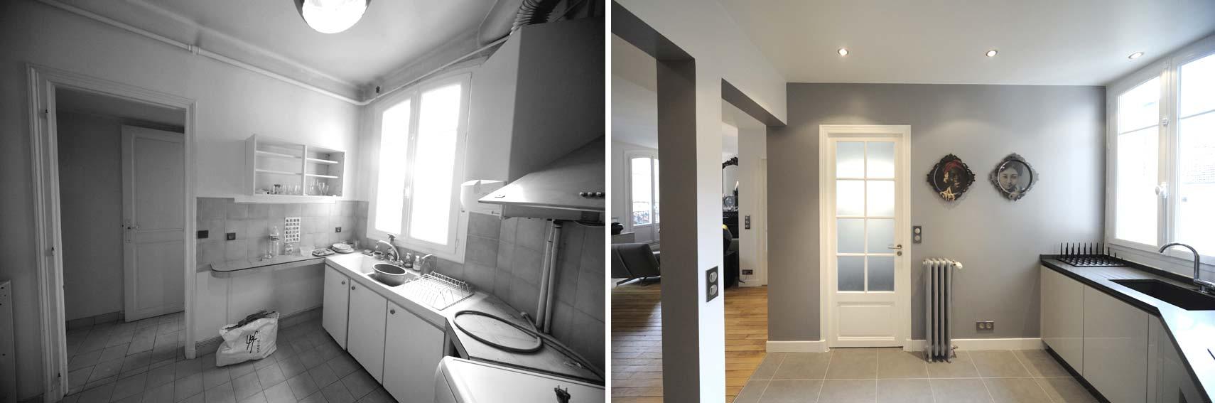 Aménagement d'une cuisine isolée dans un appartement