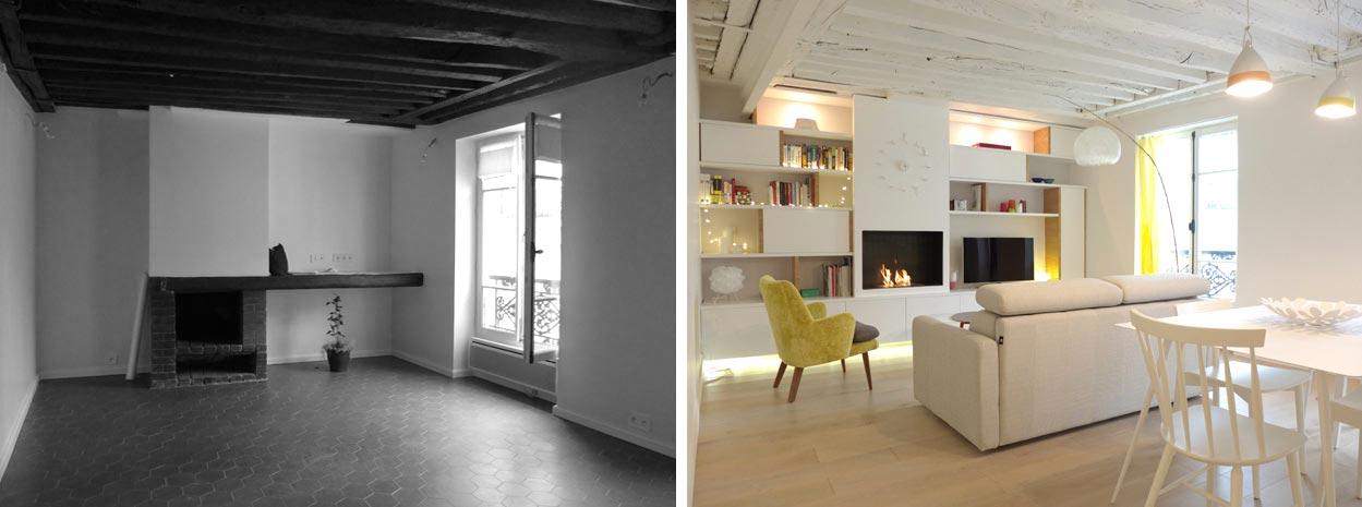 Un architecte d'intérieur rénove un ancien appartement de deux pièces rville