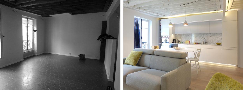 Optimisation de l'espace d'un appartement par un architecte d'intérieur rdepartement