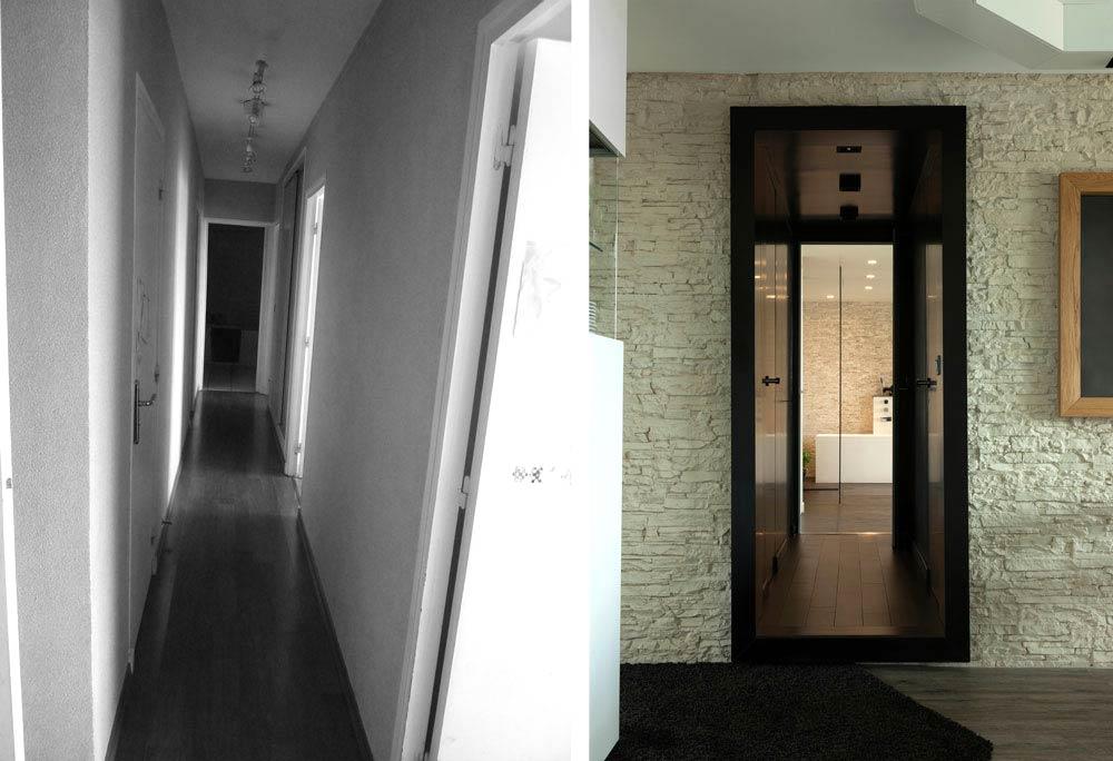 Un architecte d'intérieur aménage un appartement rville