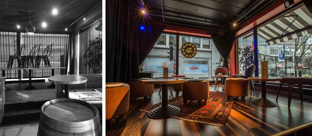 Avant - Après : aménagement intérieur d'un restaurant