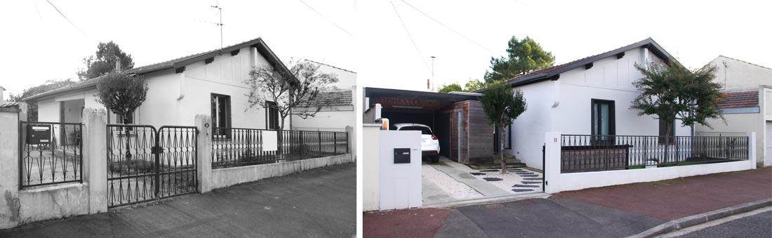 Avant - Après : Modernisation d'une maison pavillon par un architecte