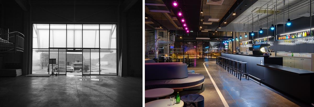 Projet d'architecture commerciale : aménagement d'un bar bowling par un architecte d'intérieur