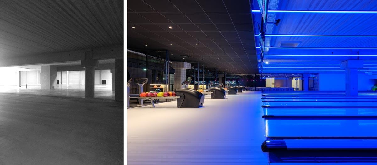 Avant - après : aménagement de pistes de bowling