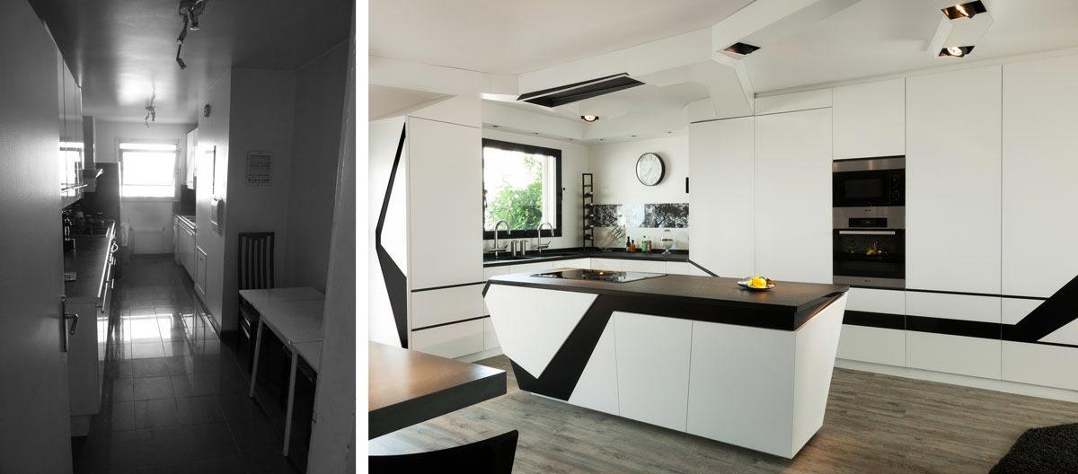 Rénovation d'une cuisine par un architecte d'intérieur rdepartement
