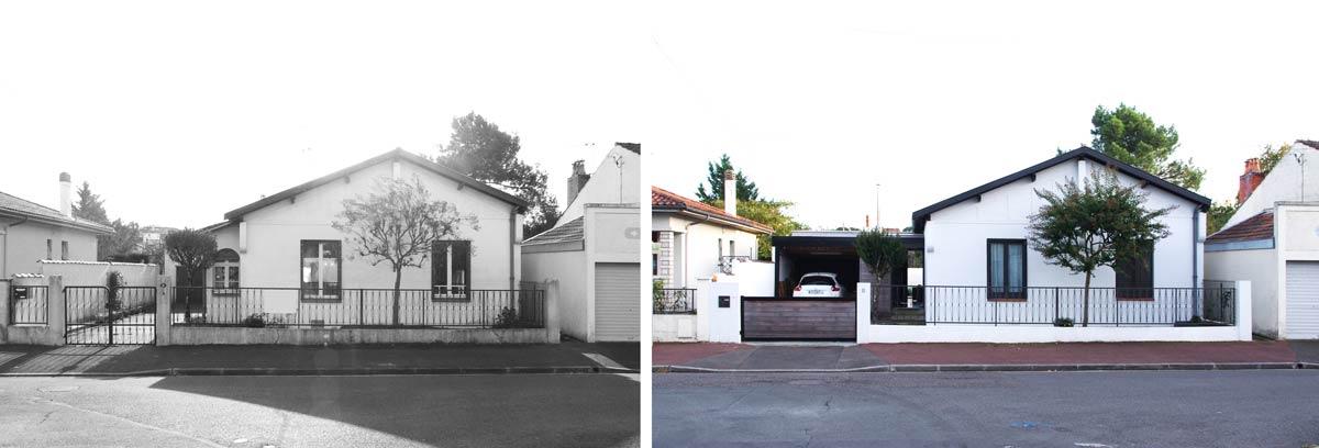 Avant - Après : rénovation d'un pavillon par un architecte