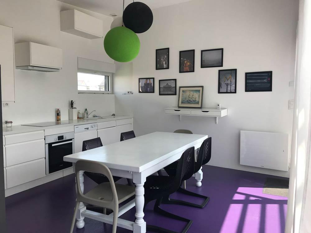 Cuisine de la maison aménagée par un architecte