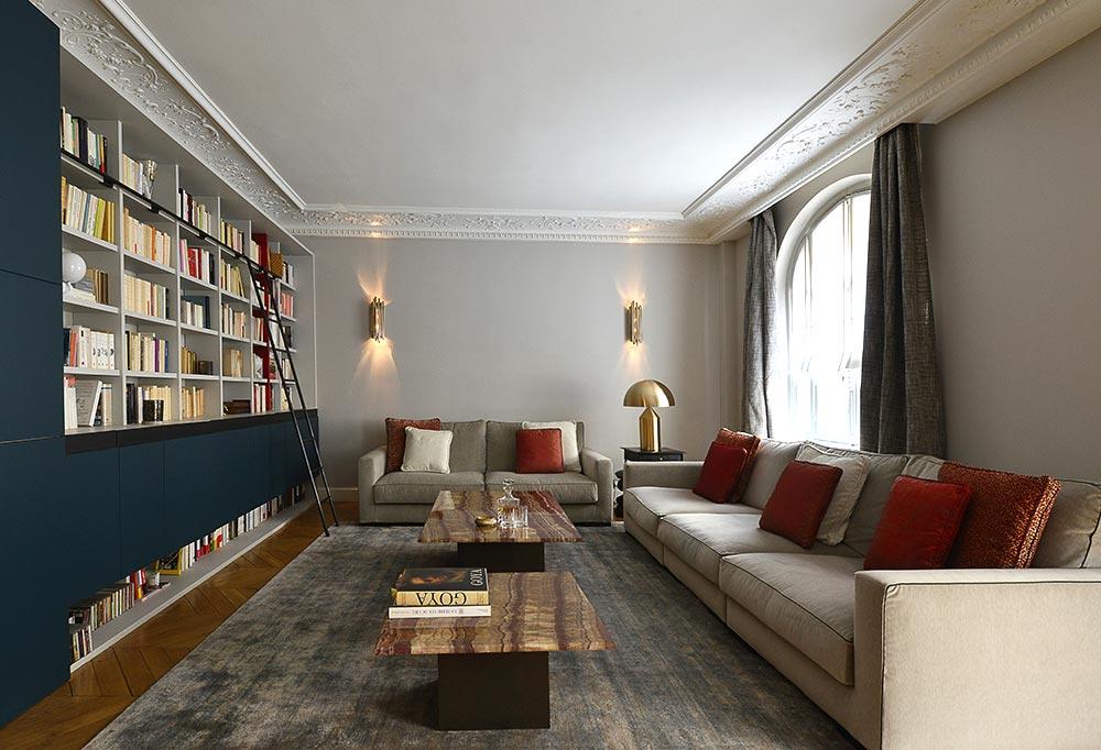 Décoration d'intérieur d'un appartement haussmannien de 220m2