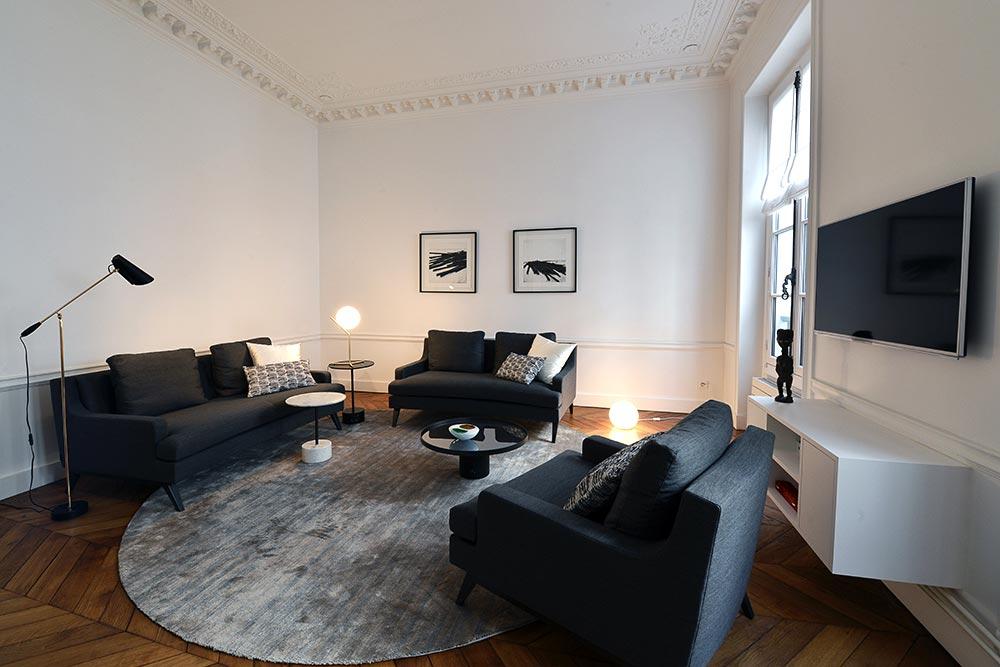Décoration d'intérieur d'un appartement haussmannien de 5 pièces et 110m2