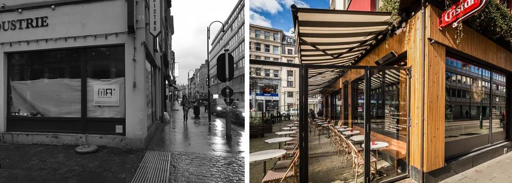 Rénovation de la facade d'un restaurant par un architecte [custom:ville]