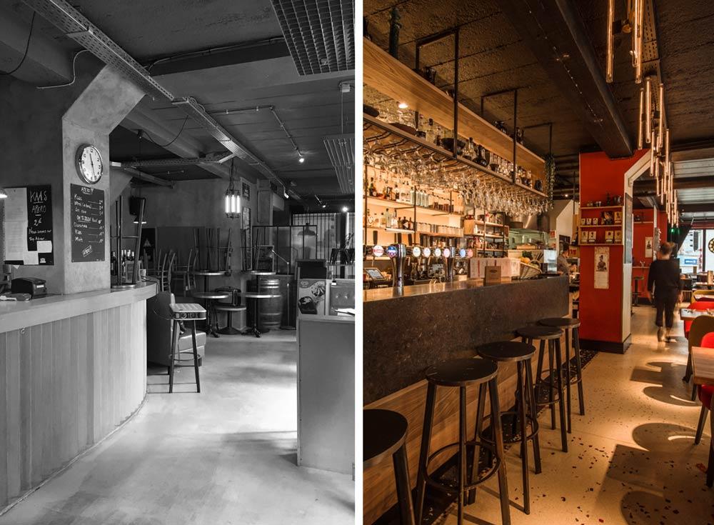 Projet d'architecture commerciale : Rénovation d'un restaurant bar