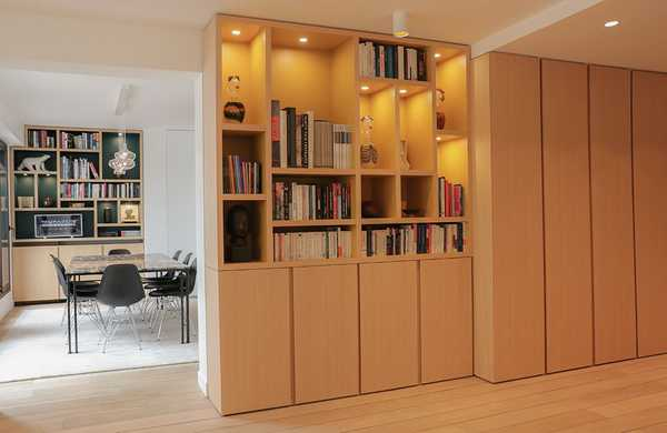 Restructuring and furnishing of an apartment