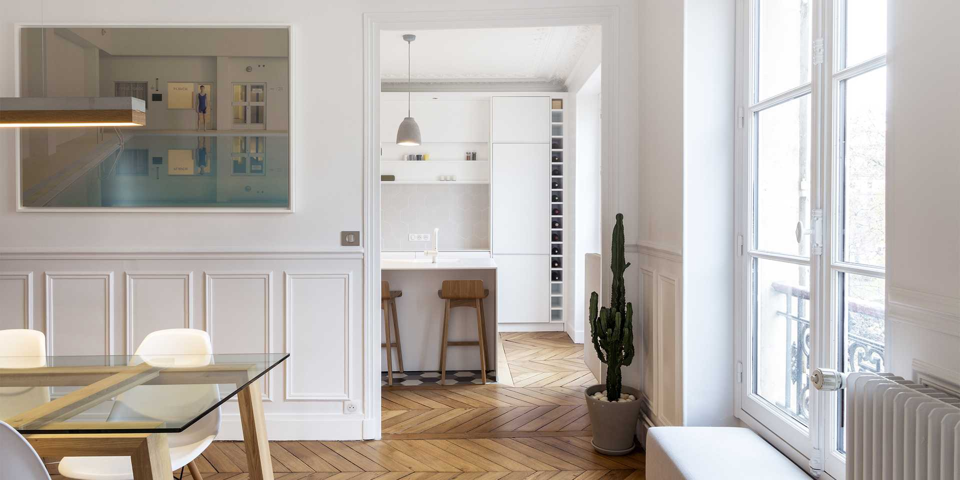 Haussmannian apartment redesigned by an architect in Brussels