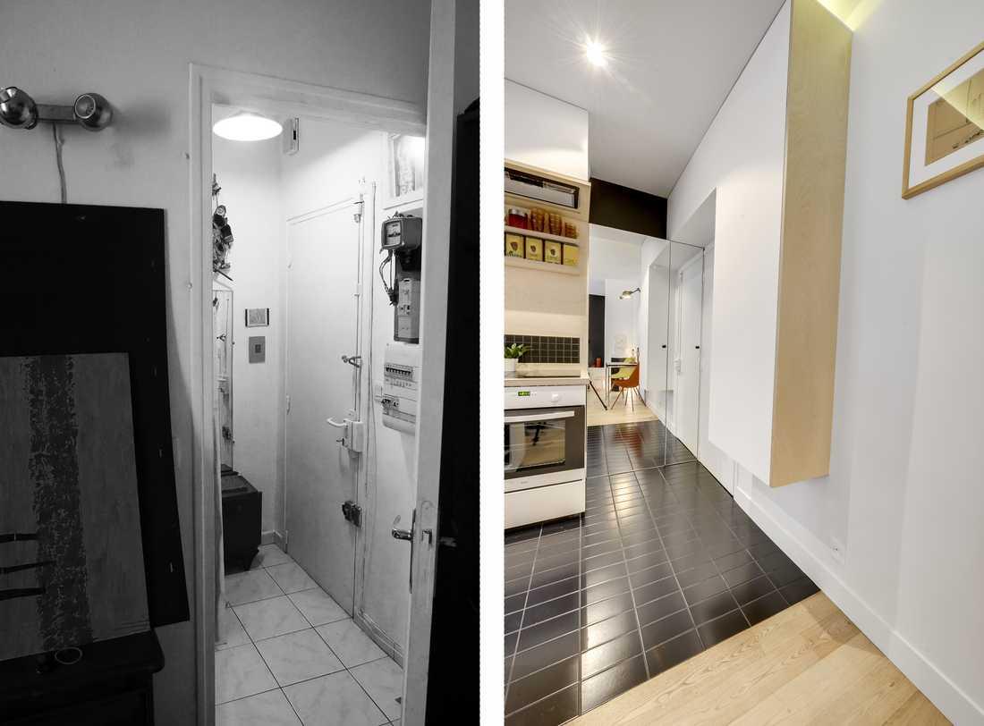 Relooking Appartement Avant Après avant-après : rénovation d'un appartement 2 pièces 32m²